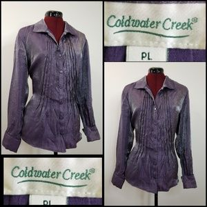 cold water creek long sleeve blouse size PL